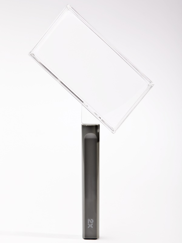 Clear Frame rectangular magnifier, 100mm