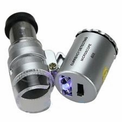 60X Pocket Microscope with LED Illumination