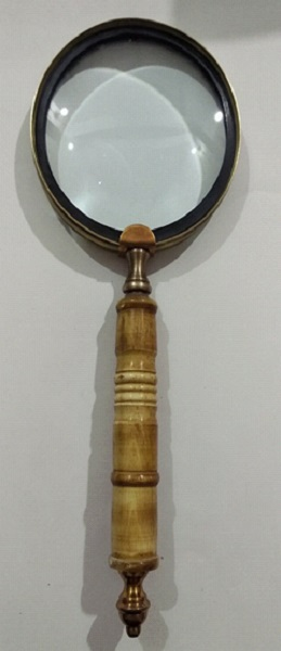 Brass Magnifier With Bone Handl