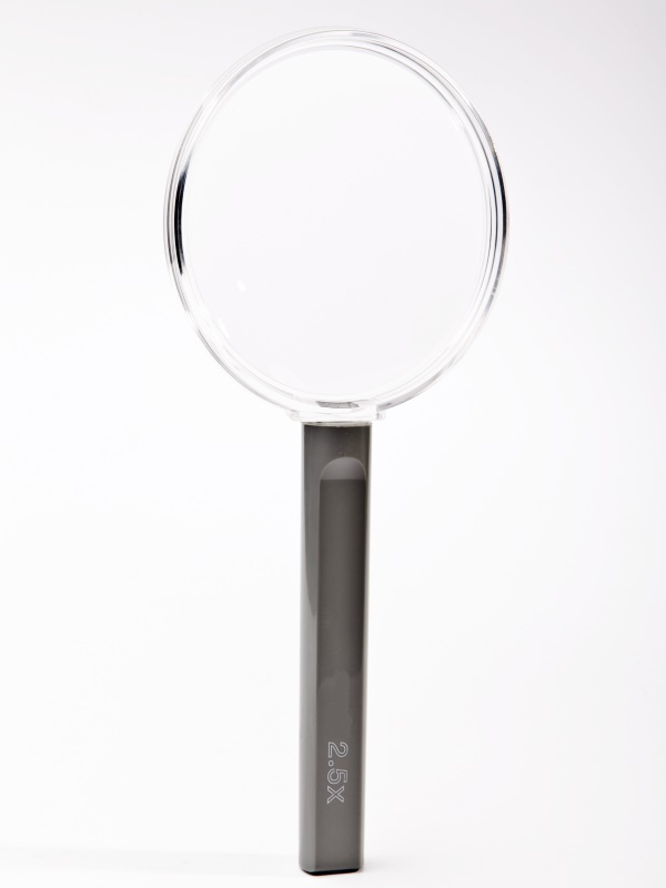 Clear Frame hand  magnifier, 80mm