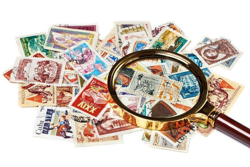 Magnifiers And Stamps