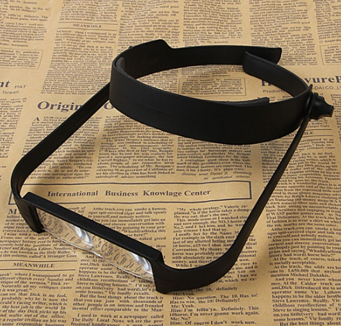 Head Band Magnifier Glass Lens, 4 Lense