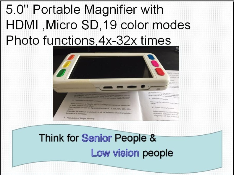 5 Portable Electronic Magnifier